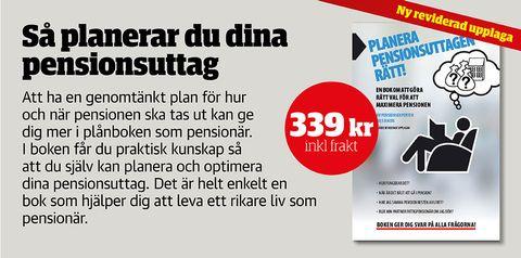 Planera pensionsuttagen rätt och få mer i pension