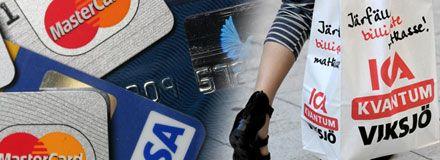 Billigast kreditkort i mataffären