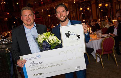 Pensiono.se:s Nicklas Hellberg och Mattias Fellenius prisades på Insurance Awards.
