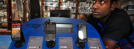 Nokiaförsäljare i Indien.